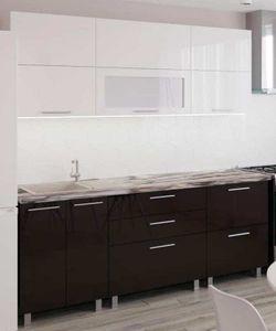 Bucătărie Bafimob Blum (High Gloss) 2.0m White/Brown