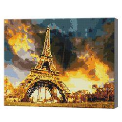 Эйфелева Башня и фантастический закат, 40x50 см, алмазная мозаика QA202547