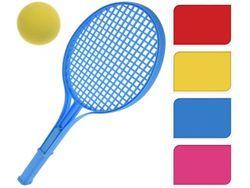 Set pentru tenis pentru copii : palete cu maner 54 cm + minge, plastic