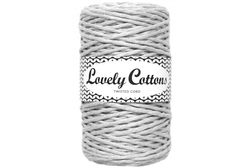 Twisted cord 3 mm, Light Grey
