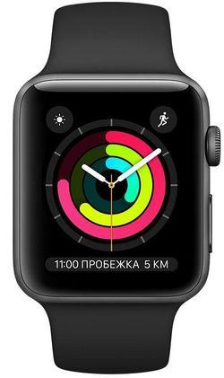 cumpără Ceas inteligent Apple Apple Watch Series 3 42mm Space Grey/Black Sport Band (MTF32) în Chișinău