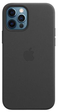 cumpără Husă pentru smartphone Apple iPhone 12 / 12 Pro Leather Case with MagSafe Black (MHKG3) în Chișinău