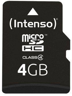 Сard de memorie Intenso MicroSD 4GB Class 4