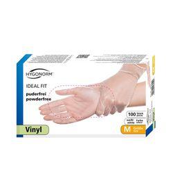 Перчатки VINYL IDEAL FIT,  размер M, 100шт, HYGONORM, FM