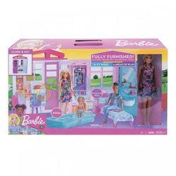 Casă portabilă Barbie cu păpuși, cod FXG55