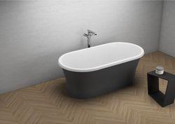 Ванна Polimat Amona Nero Mat150x75cm Freestanding (15688)