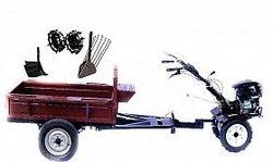 Набор мотоблок TECHNOWORKER HB 700RS PRO+Прицеп RK500 + плуг картофель + плуг регулируемый + металлические колеса 4*8