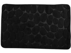 Covoras pentru baie 40X60cm Pebble negru, microfibra