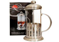Ceainic pentru infuzie cu pres 0.6l, stcla/inox