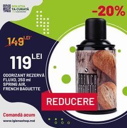 ODORIZANT REZERVA pentru FLUXO, 250 ml, 3000 doze, SPRING AIR, FRENCH BAGUETTE