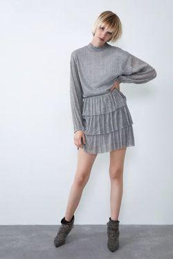 Платье ZARA Серебряный 1131/822/808