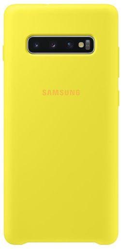 cumpără Husă telefon Samsung EF-PG975 Silicon Cover S10+ Yellow în Chișinău