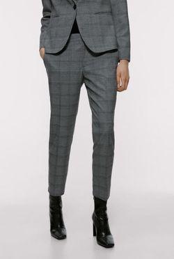 Pantaloni ZARA Gri in carouri 8073/246/802