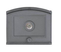 Дверца чугунная глухая с термометром правая DP4T