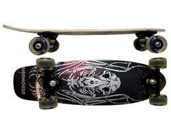 Скейтборд 69X21cm, светящиеся колеса, дерево