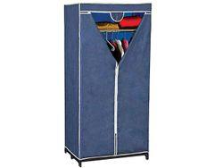 Dulap-organizator din textil Blue 160X75X50cm cu polita