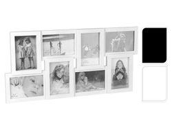 Rama foto colaj ( 8 foto 10X15cm), alba/neagra