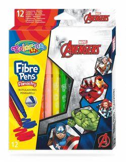 Set de carioci 12 culori - Colorino Disney Avengers