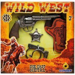 Revolver cowboy (8 focuri) cu accesorii, cod 44080