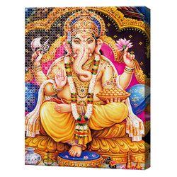 Индийская богиня Гэняца, 40x50 см, набор для рисования цифр + алмазная мозаика, YHDGJ72011