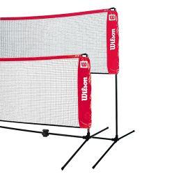 Сетка для большого тенниса и бадминтона 3.2 м с телескопическими палками Wilson (2274)