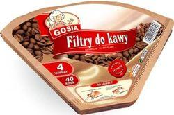 cumpără Accesoriu pentru cafetieră Gosia 191912 cofee filters, №4 40pcs în Chișinău