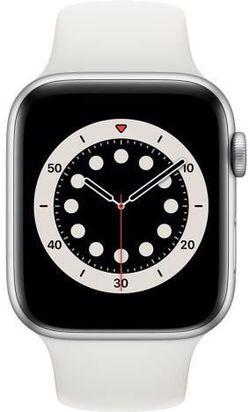 cumpără Ceas inteligent Apple Apple Watch Series 6 44mm Silver/White Sport Band (M00D3) în Chișinău