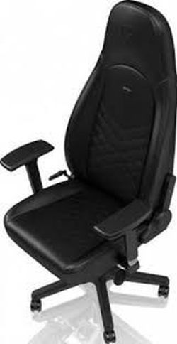 Игровое кресло Noble Icon NBL-ICN-PU-BLA Черный / Черный,