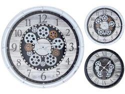 Часы настенные круглые 50cm, H8cm с прозрачным механизмом, п