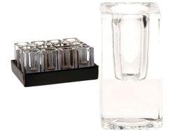 Подсвечник стеклянный высокий D4cm H8cm, для высокой свечи