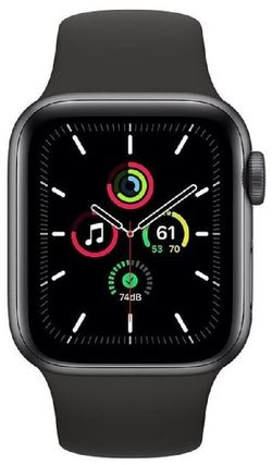 cumpără Ceas inteligent Apple Apple Watch SE 40mm Space Gray/Black Sport Band (MYDP2) în Chișinău