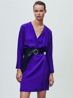 Платье Massimo Dutti Фиолетовый 6660/978/611
