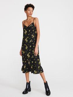 Платье RESERVED Черный в цветочек xm026-99x
