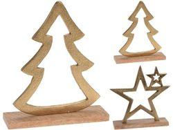 Сувенир Елка, Звезда на деревянной подставке 18cm