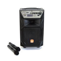 Boxa portabila cu roti, TEMEISHENG, 200 W, USB/AUX, Acumulator/Retea, Bluetooth/FM radio