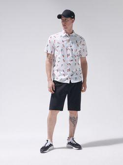 Рубашка CROPP Белый с принтом yn661