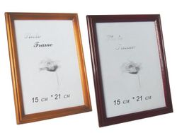 Rama foto din lemn 15X21cm, A5, cafenie/bordo