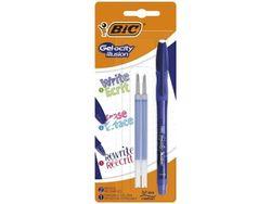 Набор ручка гелевая роллер BIC Gel-ocity синяя +2 стержня
