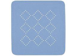 Коврик для душа 55X55cm Alaska синий, PVC