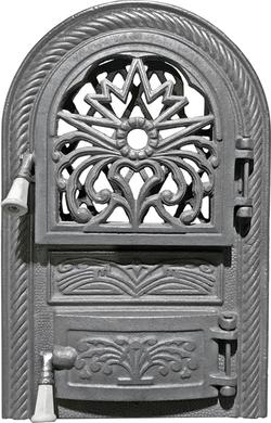 Дверь круглая под стекло для печи