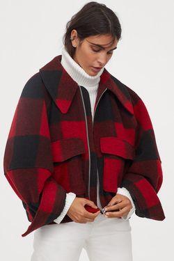 Куртка H&M Красный в клетку