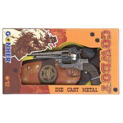 Револьвер ковбойский  (12 зарядный) в кобуре, код 44079