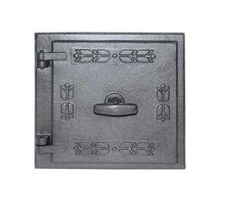 Дверца чугунная глухая левая с двойной стенкой LM