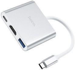 купить USB Hub Hoco HB14EUTC / HB14 Type-C adapter в Кишинёве