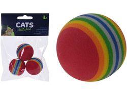 Set jucarii mingi pentru pisici 3buc, D3.5сm Cats