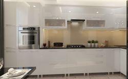 Bucătărie Bafimob Corner (High Gloss) 4.1x0.9m Eco +tandembox White