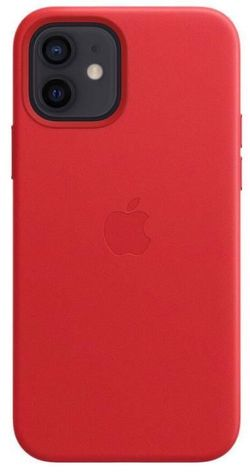 cumpără Husă pentru smartphone Apple iPhone 12 mini Leather Case with MagSafe (PRODUCT)RED (MHK73) în Chișinău