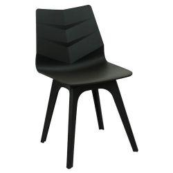 Пластиковый стул 490x460x820 мм, черный