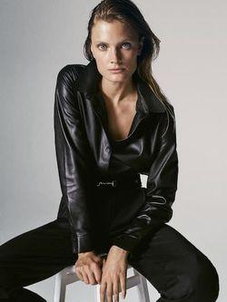Блуза Massimo Dutti Чёрный 4720/920/800