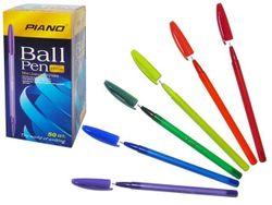 Ручка шариковая PT-1158, oil ink 0.7mm, синяя, разноц.корпус